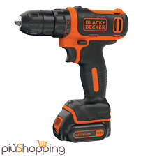 BLACK+DECKER TALADRO A BATERÍA 10.8V LITIO WIRELESS REVERSIBLE + LED BDCDD12